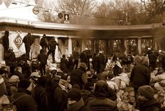 Revolution in Kiew Lizenzfreies Stockbild