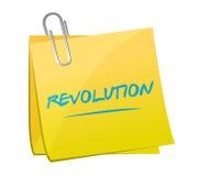 Revolution memo post illustration design Royalty Free Stock Image