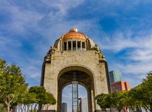 1910 Revolution Monument Mexico City Mexico. Built in 1932 with the remains of many Revolutionary heroes. The elevator sign says Go Mexico royalty free stock photography