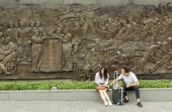 Revolution monument in Shanghai, China Royalty Free Stock Photos