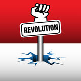 Revolution plate Royalty Free Stock Image