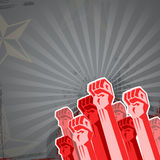 Revolution in red tones Stock Image