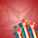 Revolution in red tones Royalty Free Stock Photo