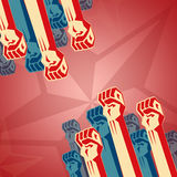 Revolution in red tones Royalty Free Stock Image