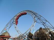 The Revolution Roller coaster at Blackpool Pleasure Beach royalty free stock photo
