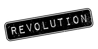 Revolution rubber stamp. Grunge design with dust scratches. Effects can be easily removed for a clean, crisp look. Color is easily changed Royalty Free Stock Image