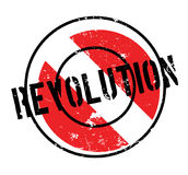 Revolution rubber stamp. Grunge design with dust scratches. Effects can be easily removed for a clean, crisp look. Color is easily changed Stock Images