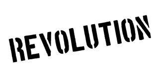Revolution rubber stamp. Grunge design with dust scratches. Effects can be easily removed for a clean, crisp look. Color is easily changed Stock Photo