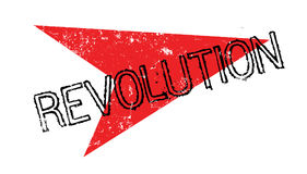 Revolution rubber stamp. Grunge design with dust scratches. Effects can be easily removed for a clean, crisp look. Color is easily changed Stock Photography