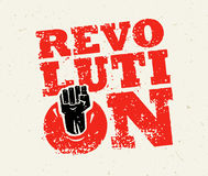 Revolution SocialProtest Creative Grunge Vector Concept on Rough Grunge Background Stock Photography