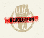 Revolution SocialProtest Creative Grunge Vector Concept on Rough Grunge Background Royalty Free Stock Image