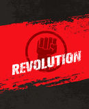 Revolution SocialProtest Creative Grunge Vector Concept on Rough Grunge Background. Revolution Protest Fist Creative Grunge Vector Concept on Paper Background Stock Photos