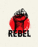 Revolution SocialProtest Creative Grunge Vector Concept on Rough Grunge Background Royalty Free Stock Photo