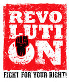 Revolution SocialProtest Creative Grunge Vector Concept on Rough Grunge Background. Revolution Protest Fist Creative Grunge Vector Concept on Paper Background Stock Images