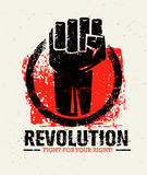 Revolution SocialProtest Creative Grunge Vector Concept on Rough Grunge Background. Revolution Protest Fist Creative Grunge Vector Concept on Paper Background Royalty Free Stock Image