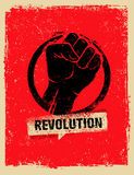 Revolution SocialProtest Creative Grunge Vector Concept on Rough Grunge Background. Revolution Protest Fist Creative Grunge Vector Concept on Paper Background Stock Photo