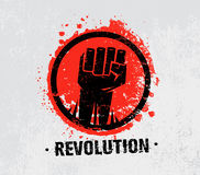 Revolution SocialProtest Creative Grunge Vector Concept on Rough Grunge Background. Revolution Protest Fist Creative Grunge Vector Concept on Paper Background Royalty Free Stock Photo