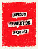 Revolution SocialProtest Creative Grunge Vector Concept on Rough Grunge Background Royalty Free Stock Photography