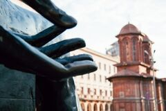 Revolution Square in Bucharest Stock Photography