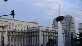 Revolution Square, Bucharest stock video