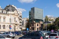 Revolution Square in Capital city of Romania - Bucharest. Bucharest, Romania, October 10, 2017 : Revolution Square in Capital city of Romania - Bucharest royalty free stock photo