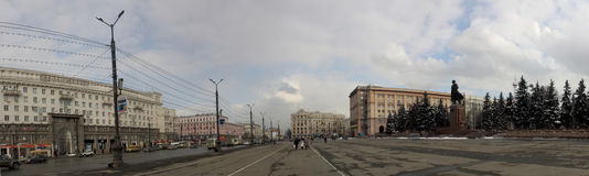 Revolution square in Chelyabinsk Royalty Free Stock Images
