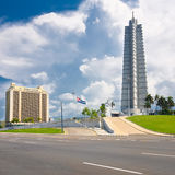 The Revolution Square in Havana. With its iconic tower and monument to Jose Marti royalty free stock photography