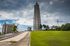 Revolution Square in Havana, Cuba. Havana, Cuba - September 22, 2015: Revolution Square with Jose Marti monument in Havana, Cuba capitol.Square is 31st largest royalty free stock images