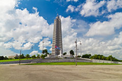 Revolution Square and the Jose Marti Monument in H. Avana, Cuba with a beautiful sky royalty free stock image