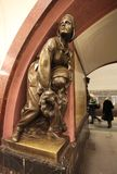 Revolution Square metro station in Moscow. Stock Images