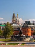 Revolution square in Moscow, Russia Stock Photography