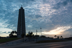 Revolution square sunset in Havana Cuba Stock Photos