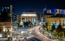 Revolution Square - Victoria Avenue Bucharest. royalty free stock photos
