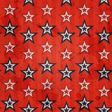 Revolution stars seamless pattern with grunge effect Stock Image