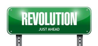 revolution street sign illustration design Stock Photos