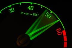 Revolution tachometer. Speeding up revolution counter tachometer Royalty Free Stock Image