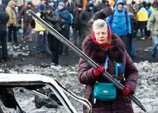 Revolution in Ukraine. Stockbild