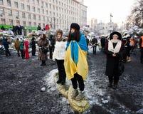 Revolution in Ukraine. Stockfotos