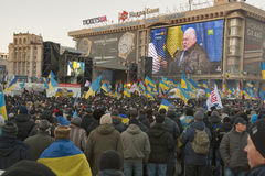 Revolution in Ukraine. EuroMaidan. Royalty Free Stock Photos