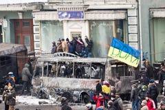 Revolution Ukraine stock photo