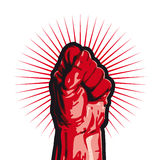 Revolution (vector). Fist symbol of revolt (from cmyk to rgb Royalty Free Stock Photography