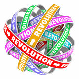 Revolution Words Cycle Change Innovation Evolution Stock Photography