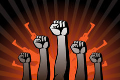 Revolutionary agitation. This is an illustration of revolutionary agitation Royalty Free Stock Photo