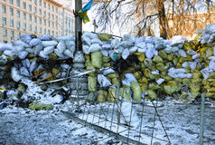 Revolutionary barricades in Kyiv Royalty Free Stock Photo