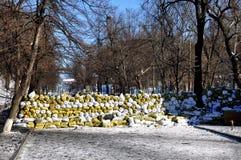 Revolutionary barricades in Kyiv Royalty Free Stock Photo