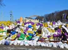 Revolutionary barricades in Kyiv Royalty Free Stock Photography