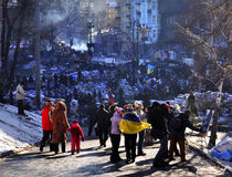 Revolutionary barricades in Kyiv Stock Photography