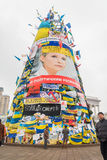 Revolutionary Christmas in Kiev, Ukraine Stock Images