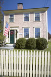 Revolutionary home with picket fence in historic Concord, Massachusetts, New England Stock Photos