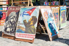 Revolutionary posters for sale in Havana Royalty Free Stock Image